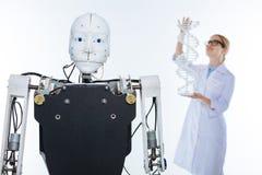Niekonwencjonalnego naukowa rozwija technologia opierająca się na ludzkim genomu Zdjęcia Stock