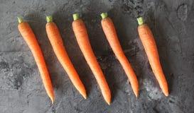 Niektóre świeża marchewka obrazy stock