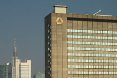 Niektóre Commerzbank budynki zdjęcie stock