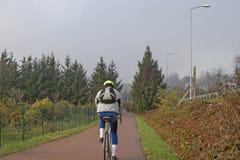 Niektóre cykliści jadą parkową cykl ścieżkę zdjęcia royalty free