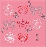 Niektóre elementy dla projekta Miłość Ilustracji