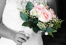 Niektóre flowersin ślubny bukiet Obraz Royalty Free