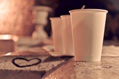 Niektóre kawa przy nocą Obrazy Royalty Free