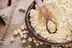 Niektóre soj mąka obrazy stock