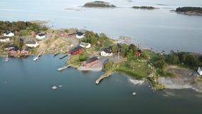 Niektóre wyspy w zatoce Finlandia Fotografia Royalty Free