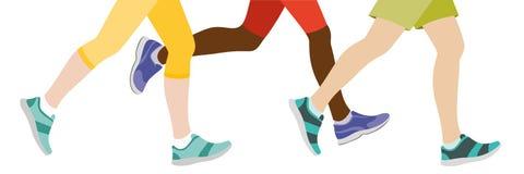 Niektóre Zaludniają jogging ilustracja wektor