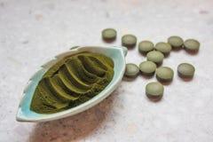 Niektóre zieleni Chlorella alg nadprogramy obrazy stock