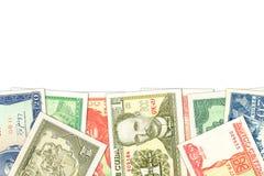 Niekt?re kuba?skiego peso banknoty z copyspace zdjęcia royalty free