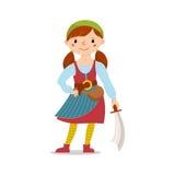 Nielegalnie kopiować dziewczyny trzyma kordzika w bandanach i pasiastych rajstopy, kord Obraz Royalty Free