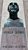 Niels Bohr sculpture in Copenhagen Stock Photos