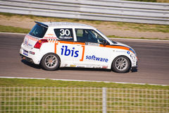 Niels Langeveld In his Suzuki Swift Royalty Free Stock Images