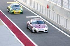 Nielsen & Binladen finishing the race of Porsche Stock Photos
