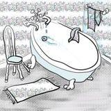 Niemądra balia i krzesło. ilustracji