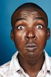Niemądry afrykański mężczyzna fotografia stock