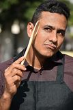 Niemądry Dorosłej samiec szef kuchni Lub Cook zdjęcia royalty free