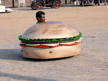 niemądra samochód samochodowa pizza Zdjęcie Stock