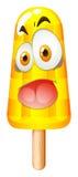 Niemądra twarz na popsicle Obrazy Stock