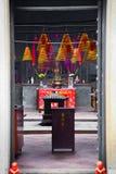 Niemand in Chinese Tempelhal Stock Foto