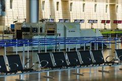 Niemand in internationale luchthaven van Israël op Zaterdag (Shabbat) Royalty-vrije Stock Fotografie