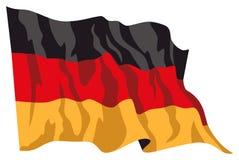 Niemcy 1 flagę Zdjęcie Stock