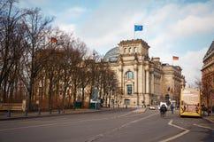 Niemcy berlin reichstagu budynku Luty 16, 2018 obraz royalty free