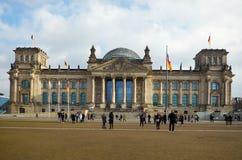 Niemcy berlin reichstagu budynku Luty 16, 2018 obrazy stock