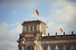 Niemcy berlin reichstagu budynku Luty 16, 2018 zdjęcia royalty free