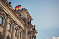 Niemcy berlin reichstagu budynku Luty 16, 2018 zdjęcie stock