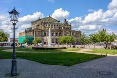 Niemcy, Drezdeński domu dresden semper operę Obrazy Royalty Free