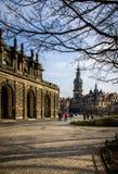 Niemcy, Drezdeński, 03 02 2014 Zwinger pałac, galeria sztuki i muzeum w Drezdeńskim, Niemcy obrazy stock