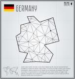 Niemcy mapa w geometrycznym poligonalnym stylu Poligonalna abstrakcjonistyczna światowa mapa Zdjęcia Royalty Free