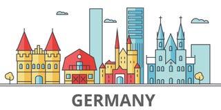 Niemcy miasta linia horyzontu ilustracji