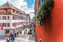 Niemcy miasto Lahr, Październik 28, 2015 główna ulica Fotografia Royalty Free