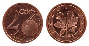 Niemcy monety 2 centy 2008 obrazy stock