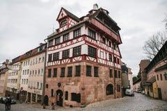 Niemcy, Nuremberg, Grudzień 27, 2016: Albrecht Durer ` s dom Sławny budynek w mieście widok Zdjęcia Royalty Free