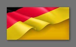 Niemcy patriotyczny świąteczny horyzontalny sztandar ilustracji