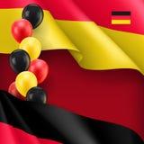 Niemcy patriotyczny sztandar z przestrzenią dla teksta royalty ilustracja