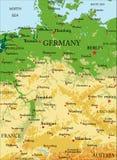 Niemcy Reliefowa mapa Zdjęcia Stock