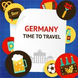 Niemcy tła szablon Zdjęcie Royalty Free