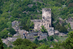 Niemcy, widok gutenfels kasztel obrazy royalty free
