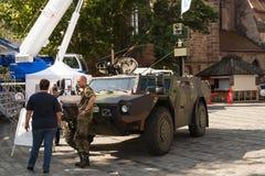 Niemcy wojska pojazd pancerny Obrazy Royalty Free