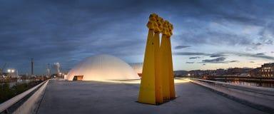 Niemeyer dans le nord de l'Espagne images libres de droits
