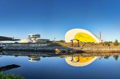 Niemeyer dans le nord de l'Espagne en Asturies photo stock