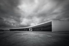 Niemeyer no norte de spain Aviles as Astúrias fotografia de stock