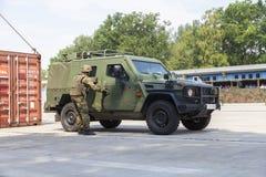 Niemiec światło opancerzający patrolowy pojazd Enok Fotografia Royalty Free