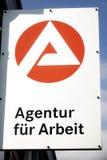 Niemiec Agentura Arbeit futerkowy logo Obraz Royalty Free