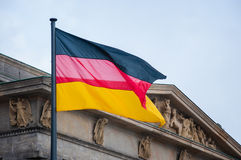 Niemiec flaga Fotografia Royalty Free