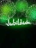 Niemiec Jubiläum fajerwerku jubileuszowa rocznicowa zieleń Obraz Stock
