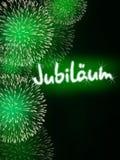 Niemiec Jubiläum fajerwerku jubileuszowa rocznicowa zieleń Obrazy Stock