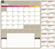 Niemiec kalendarz 2019 Obrazy Royalty Free
